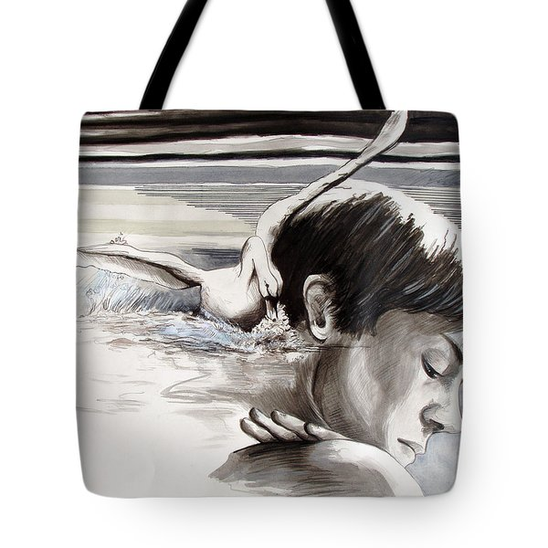 Tote Bag featuring the painting Stroke by Rene Capone