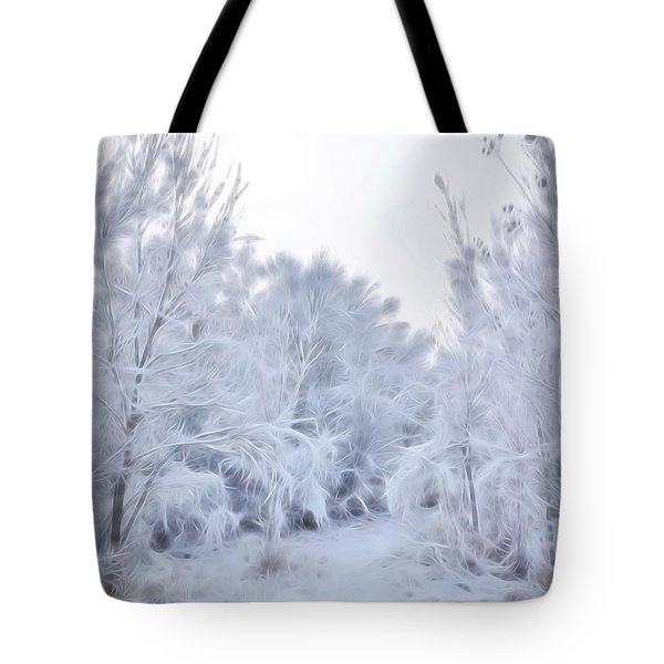 Stroll Through A Winter Wonderland Tote Bag
