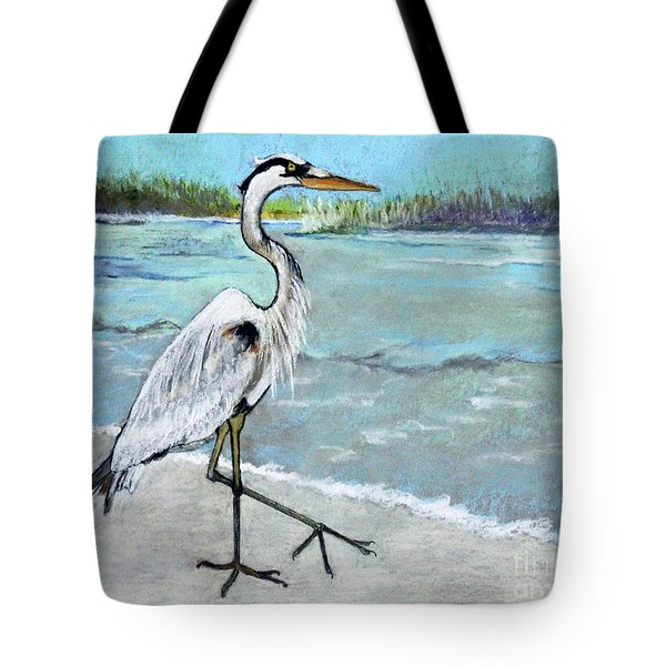 Tote Bag featuring the pastel Strolling Along by Rosemary Aubut