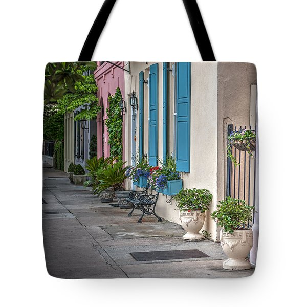 Strolling Down Rainbow Row Tote Bag