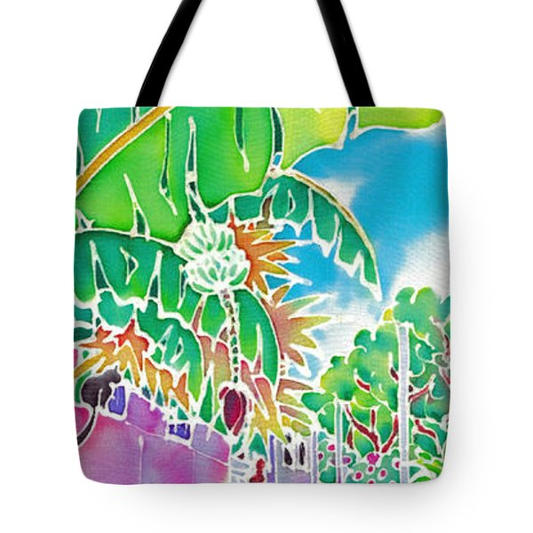 Strolling The Village Tote Bag