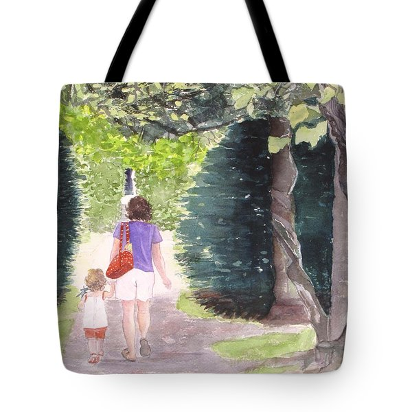 Strolling With Mom Tote Bag