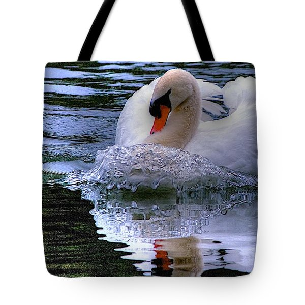 Strong Swimmer Tote Bag by Dennis Baswell