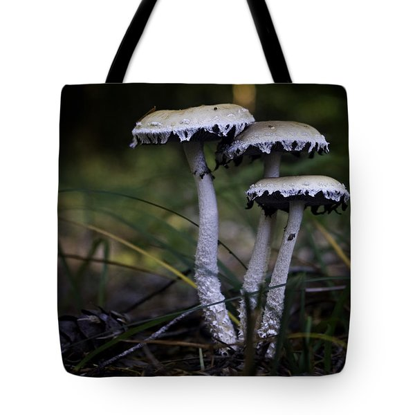 Tote Bag featuring the photograph Stropharia Ambigua by Betty Depee