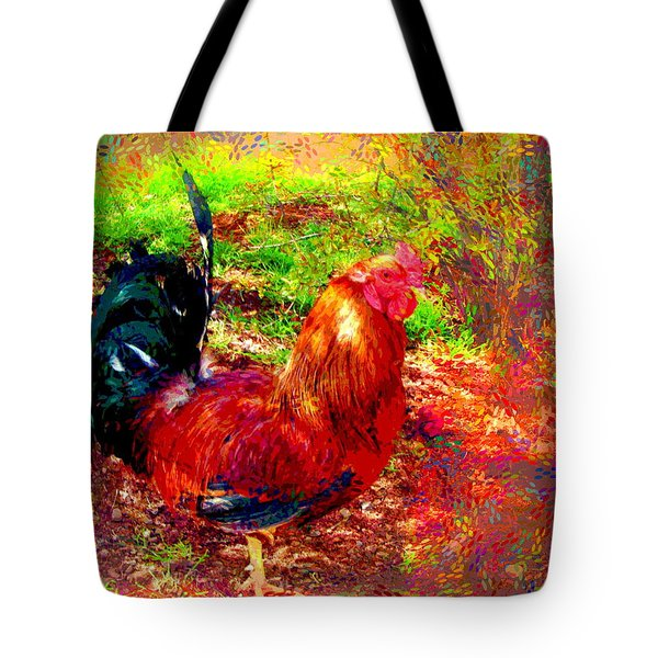 Strutting In Living Color Tote Bag by Joyce Dickens