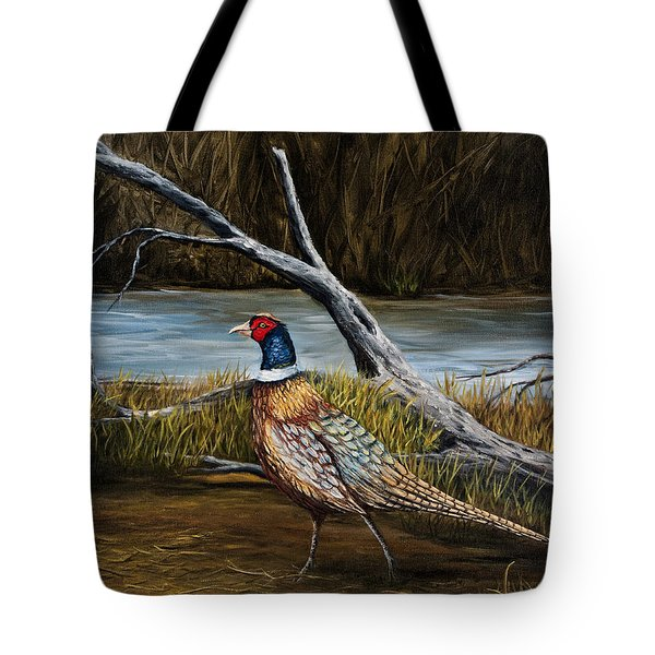 Strutting Pheasant Tote Bag