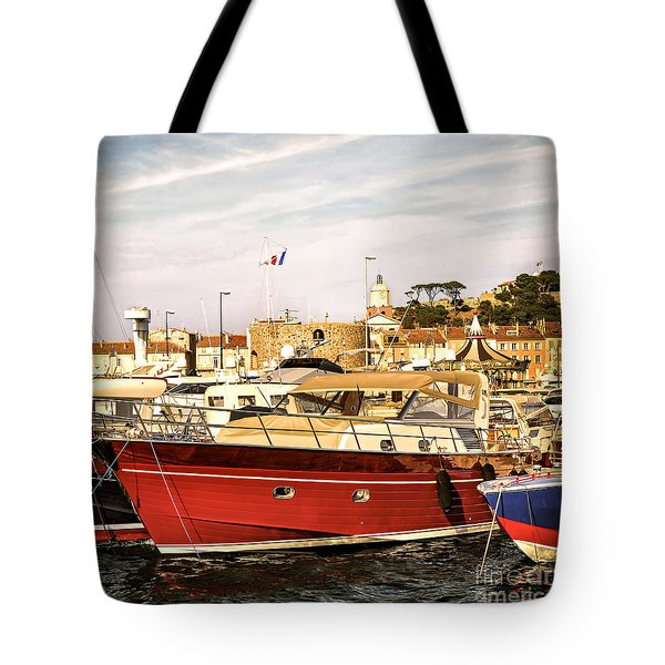 St.tropez Harbor Tote Bag by Elena Elisseeva
