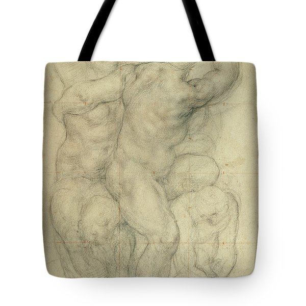 Study For A Group Of Nudes Tote Bag by Jacopo Pontormo