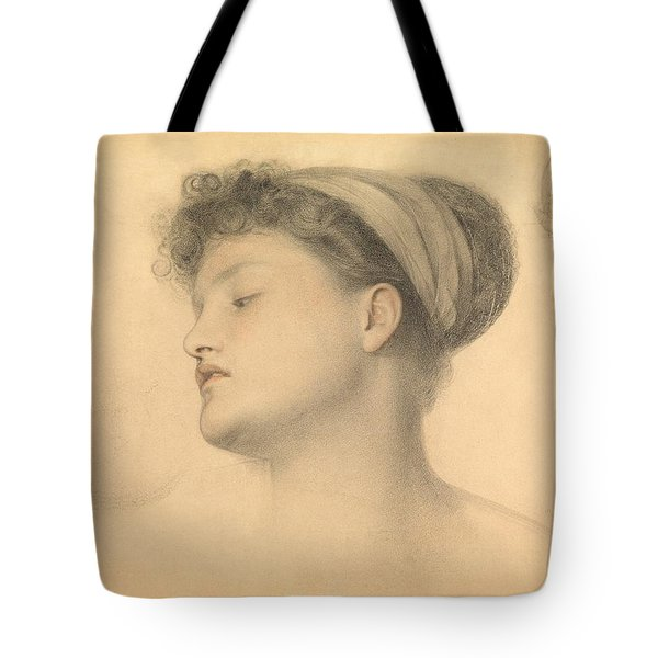 Study For Girl With Doves Tote Bag by Anthony Frederick Augustus Sandys