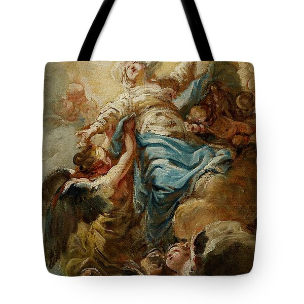 Study For The Assumption Of The Virgin Tote Bag by Jean Baptiste Deshays de Colleville