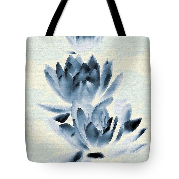 Study In Blue Tote Bag by Andrea Kollo