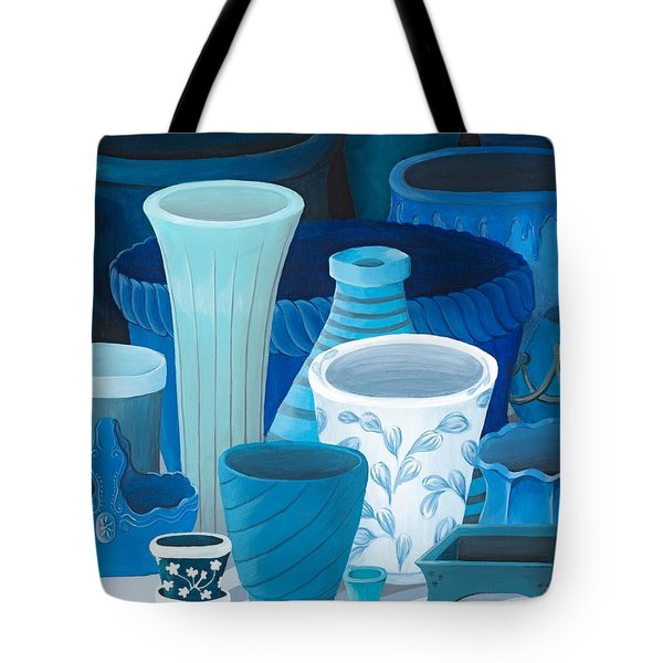 Study In Blue Tote Bag by Katherine Young-Beck