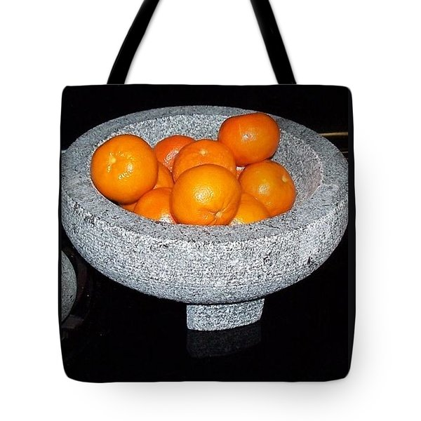 Study In Orange And Grey Tote Bag