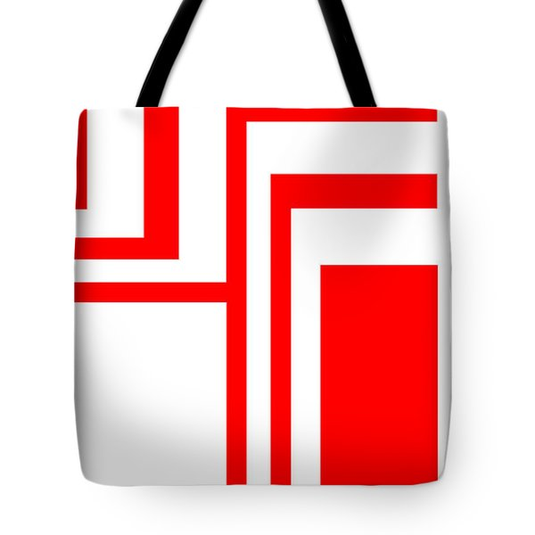 Tote Bag featuring the digital art Study In White And Red by Cletis Stump