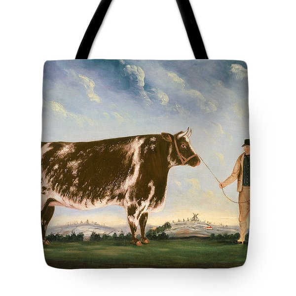 Study Of A Shorthorn Tote Bag by William Joseph Shayer