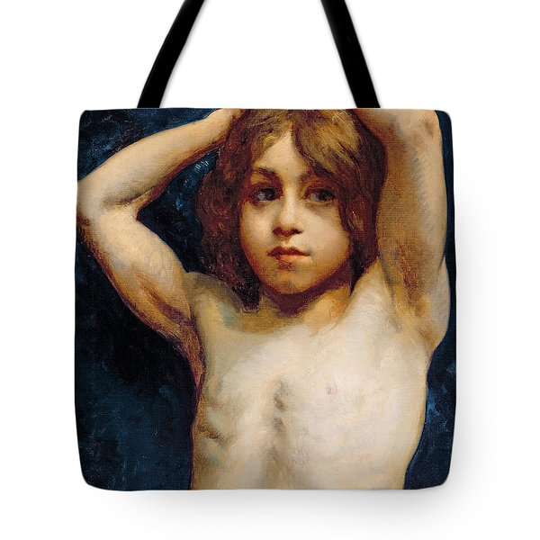 Study Of A Young Boy Tote Bag by William John Wainwright