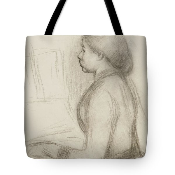 Study Of A Young Girl At The Piano Tote Bag