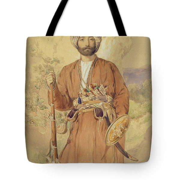 Study Of An Afghan Warrior, Tehran, 1848 Tote Bag