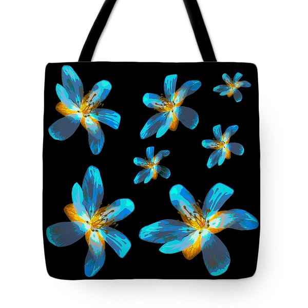 Study Of Seven Flowers #4 Tote Bag