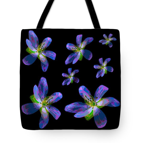 Study Of Seven Flowers #6 Tote Bag