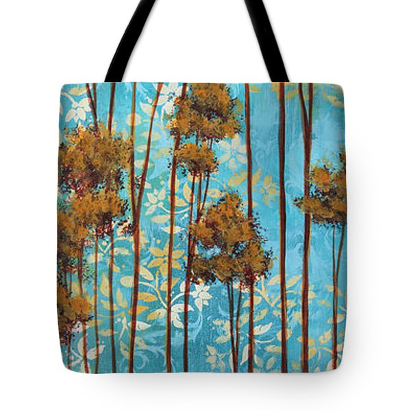 Stunning Abstract Landscape Elegant Trees Floating Dreams II By Megan Duncanson Tote Bag by Megan Duncanson