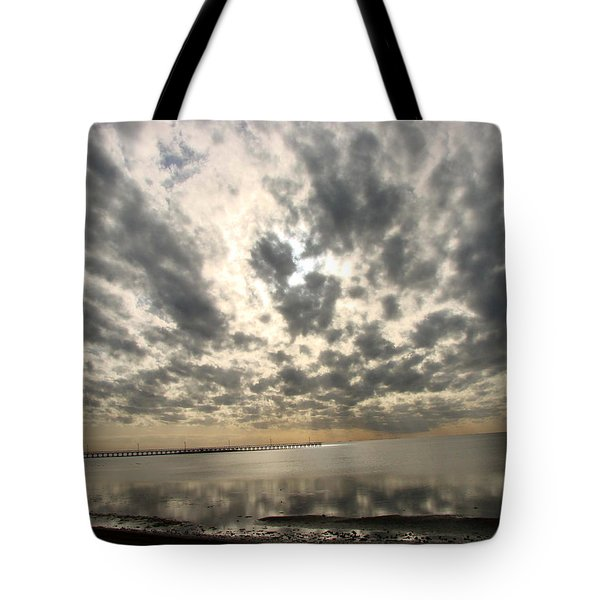 Tote Bag featuring the photograph Stunning Coastal Sunrise by Linda Cox