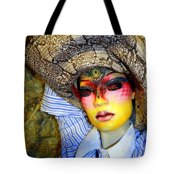 Stunning In Snakeskin Tote Bag by Ed Weidman