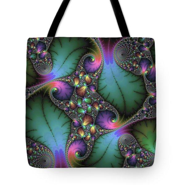 Stunning Mandelbrot Fractal Tote Bag by Matthias Hauser