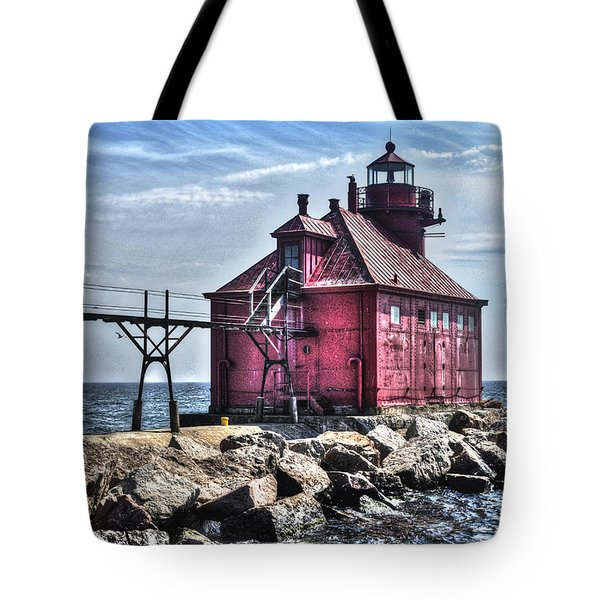 Tote Bag featuring the photograph Sturgeon Bay Ship Canal by Deborah Klubertanz