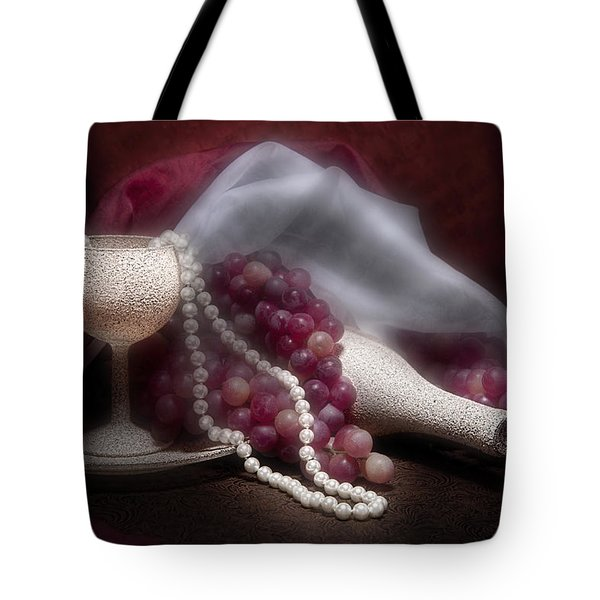 Stylish Wine Still Life Tote Bag
