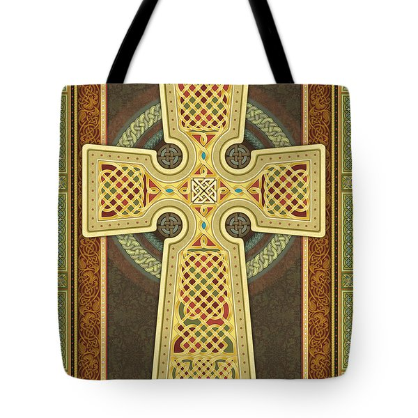 Stylized Celtic Cross Tote Bag