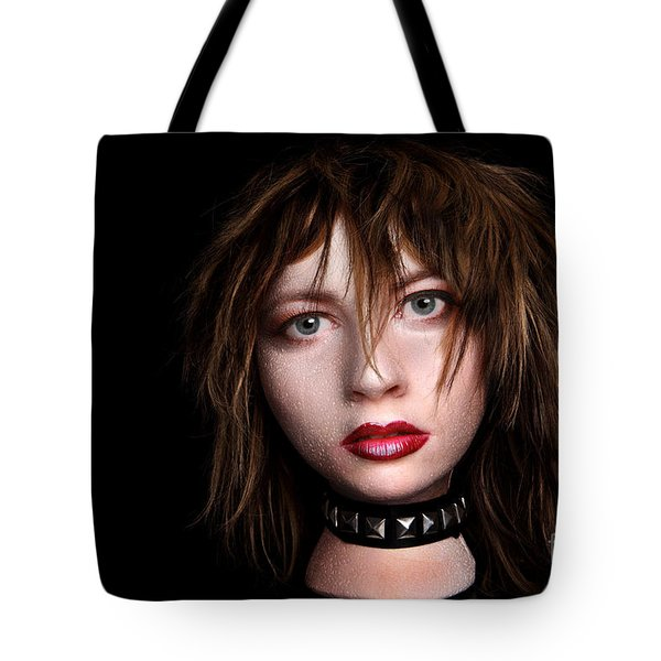 Styrofoam Wig Head With Face Tote Bag by Sharon Dominick