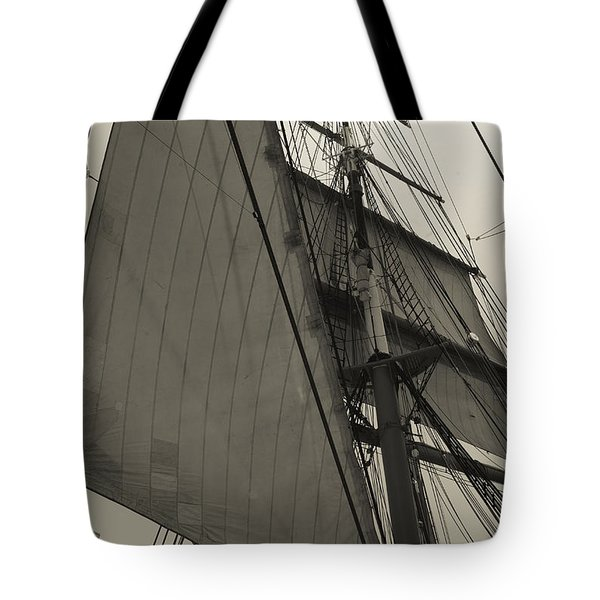 Suare And Triangle Black And White Sepia Tote Bag