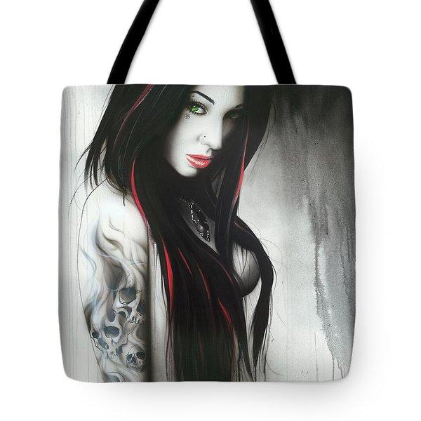 Portrait - ' Subliminal II ' Tote Bag by Christian Chapman Art