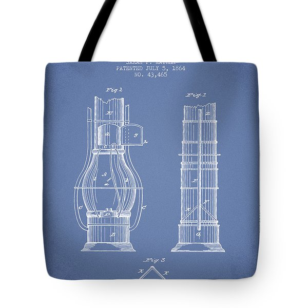 Submarine Telescope Patent From 1864 - Light Blue Tote Bag