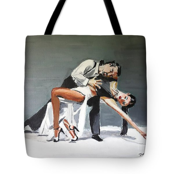 Tote Bag featuring the painting Submission by Judy Kay