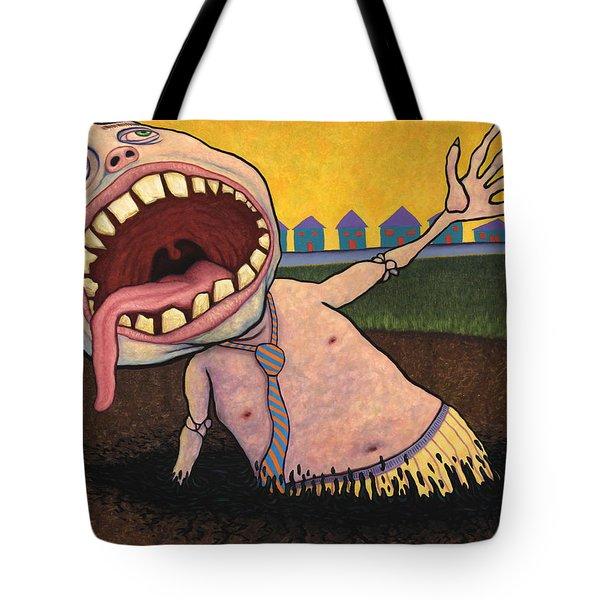 Suburban Tarpit Tote Bag by James W Johnson