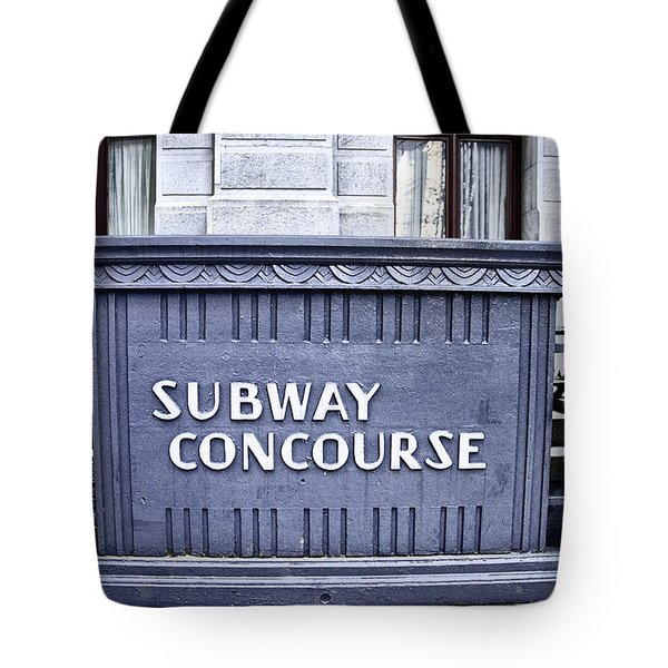 Subway Concourse At City Hall Tote Bag by Bill Cannon