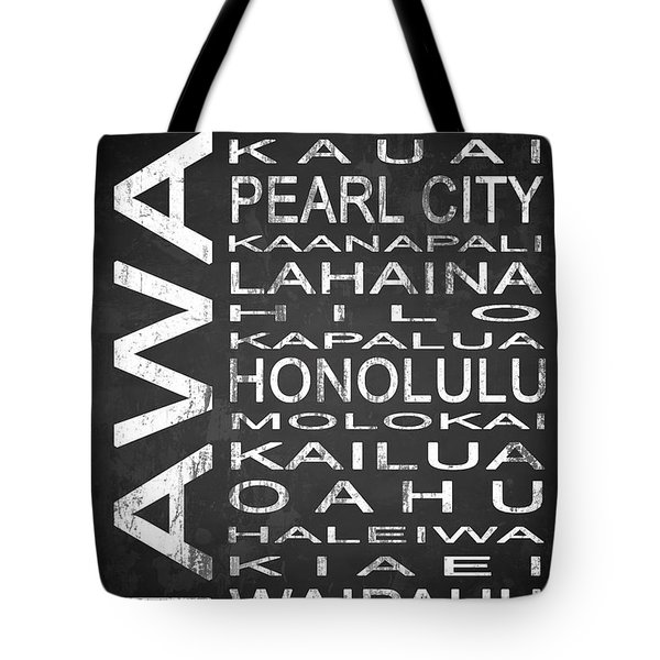 Subway Hawaii State 1 Tote Bag