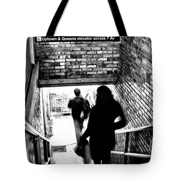 Subway Shadows Tote Bag by Karol Livote