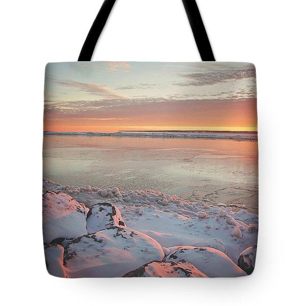 Subzero Sunrise Tote Bag