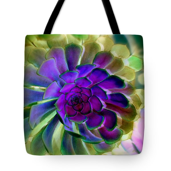 Tote Bag featuring the photograph Succulent Transformation by Antonia Citrino