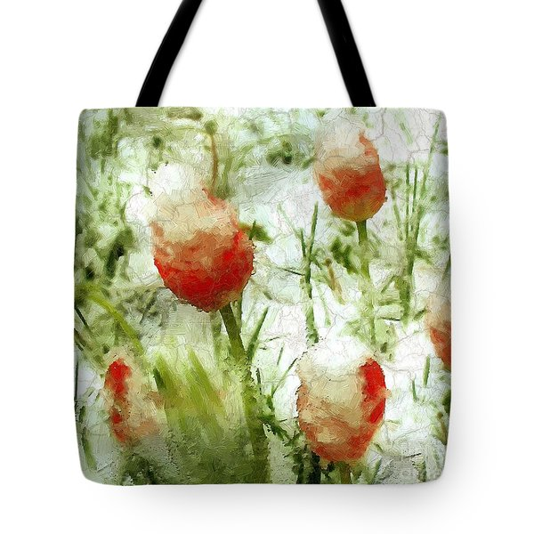Suddenly Snow Tote Bag by RC deWinter