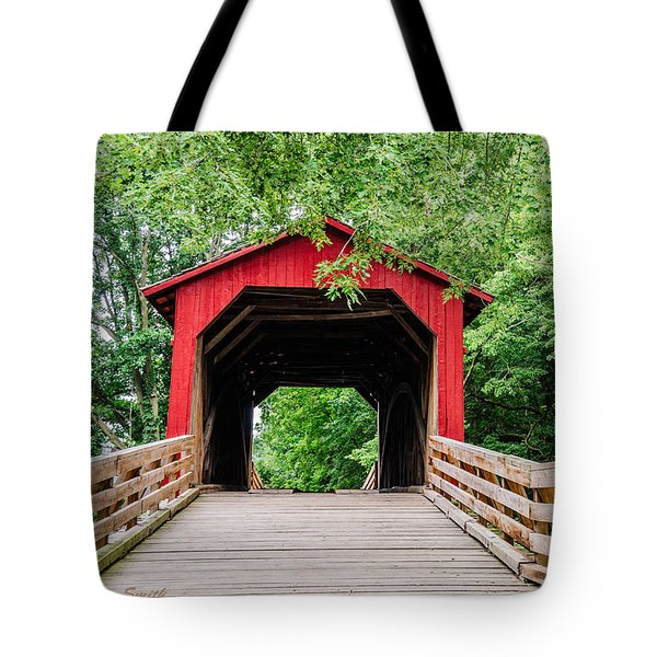 Sugar Creek Covered Bridge Tote Bag