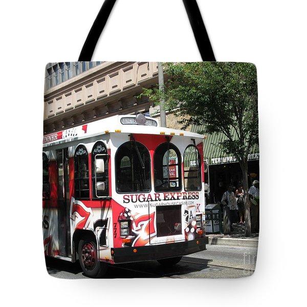 Sugar Express. Philadelphia. Pennsylvania Tote Bag by Ausra Huntington nee Paulauskaite