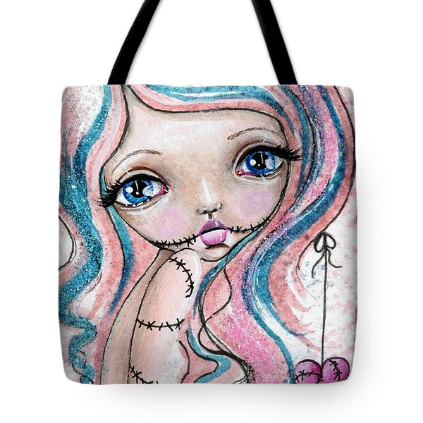 Sugar Spun Zombie Tote Bag by Lizzy Love of Oddball Art Co