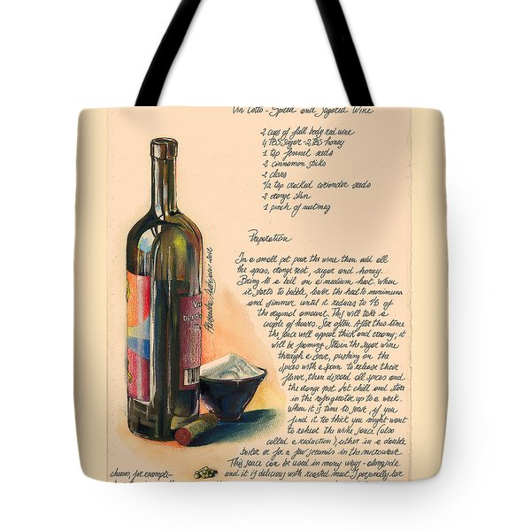 Sugared Wine Tote Bag by Alessandra Andrisani