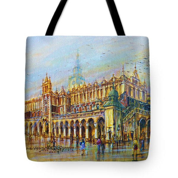 Sukiennice In Cracow Tote Bag