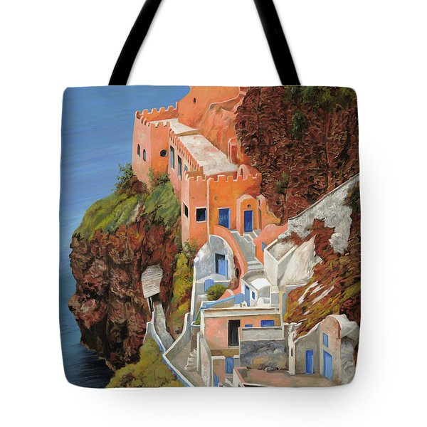 sul mare Greco Tote Bag by Guido Borelli