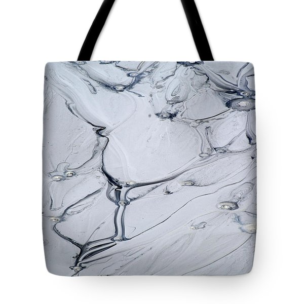 Sulphur Caldron Mud Art Yellowstone Tote Bag by Bruce Gourley